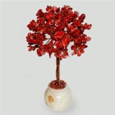Дерево из коралла Вместе 35 в вазочке из оникса