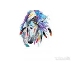Женская футболка Colored horse