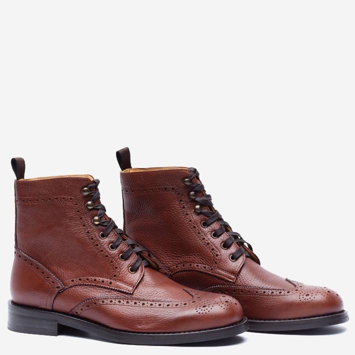 Высокие коричневые ботинки Gents' Stuff by Harridge