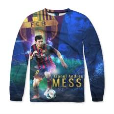 Мужской свитшот с полной запечаткой Messi