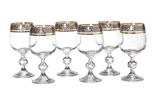 Набор из 6 бокалов для вина 230 мл Crystalex Клаудия, эксклюзив