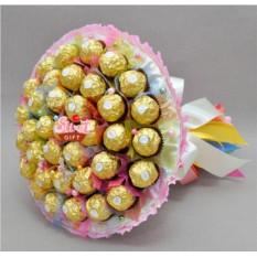 Букет из конфет Радуга цвета