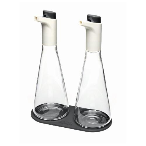 Набор емкость для масла и уксуса, серый, стекло