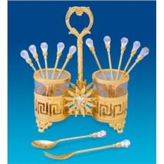 Набор десертных вилочек и ложечек Версаче дизайн