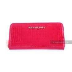 Красный женский кошелек из натуральной кожи Michael Kors