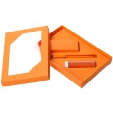 Набор Energy: аккумулятор и ручка (цвет — оранжевый)
