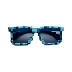 Синие солнцезащитные пиксельные очки Minecraft