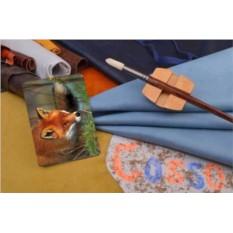 Горизонтальный кардхолдер-книжка из кожи Лисичка