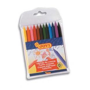 Цветные карандаши пластиковые 12 цветов Jovi