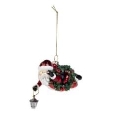 Елочное украшение Дед Мороз с фонариком