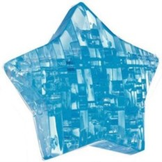 Синий 3D пазл Звезда