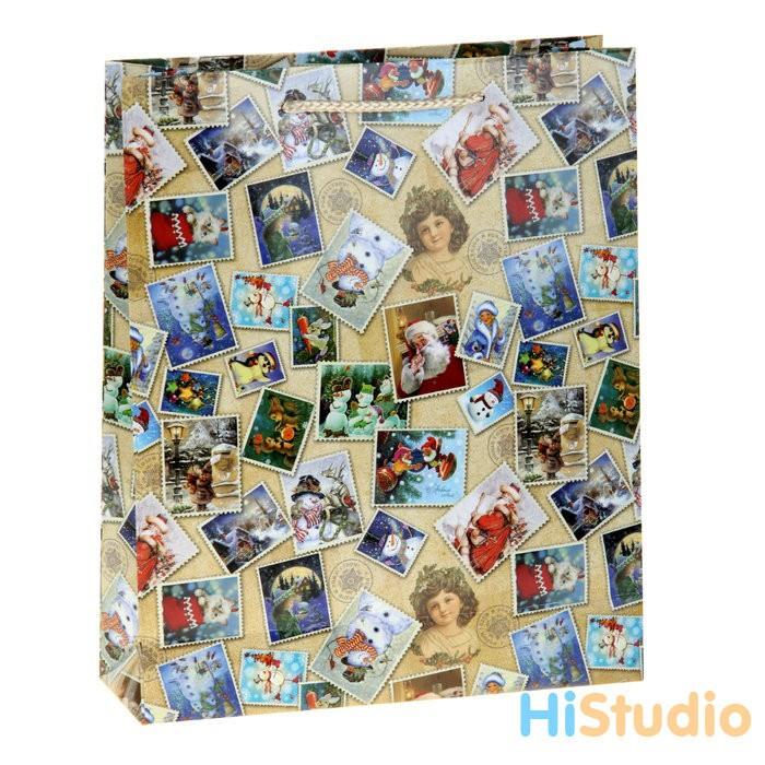 Пакет Новогодние марки