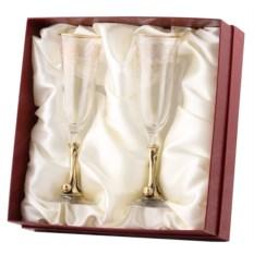 Бокалы для шампанского в картонной коробке Вишня