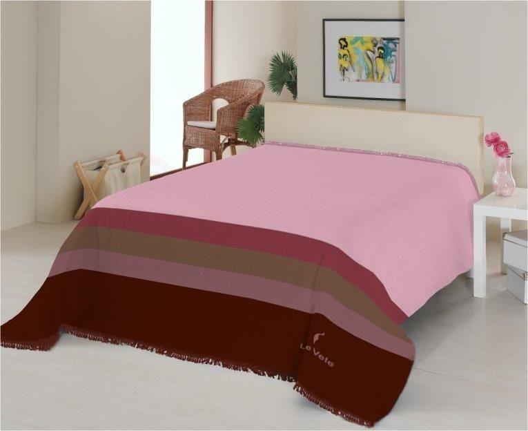 Розовый плед Королевские полосы 160x220 см
