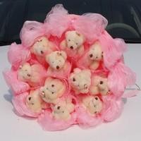 Букет из игрушек Нежные розовые мишки