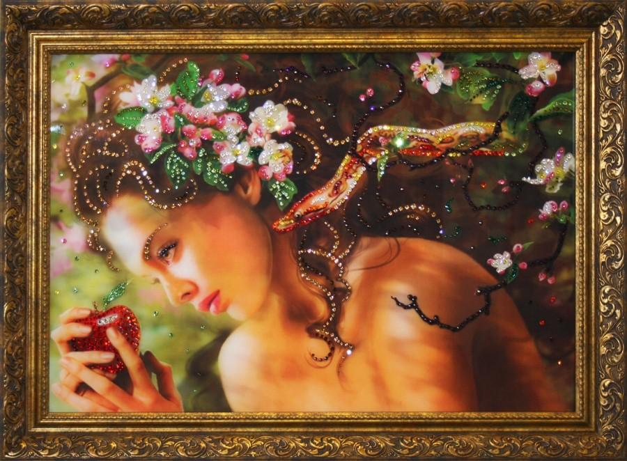 Картина с кристаллами Swarovski Змей Искуситель