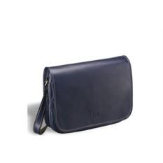 Синяя кожаная сумка через плечо Brialdi Cambridge