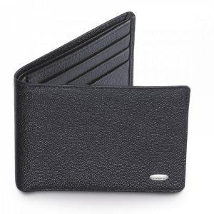 Малое ультратонкое мужское портмоне черного цвета