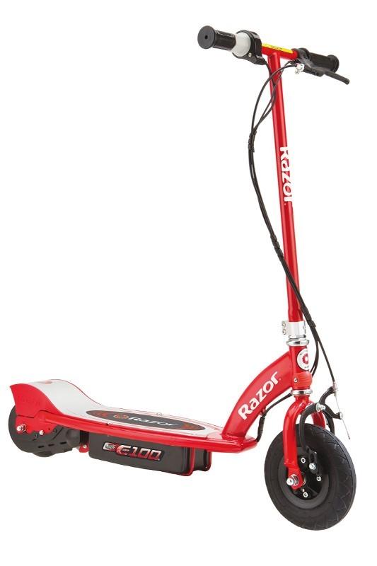 Красный электросамокат для детей E100 (Razor)