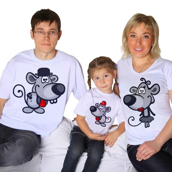 Футболки для семьи Мышата