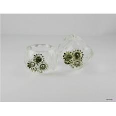 Стеклянное кольцо для салфетки Цветы Ranoldi