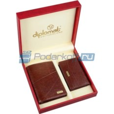 Мужской набор Diplomat: портмоне, визитница