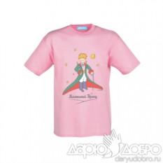 Детская розовая футболка Маленький Принц со шпагой