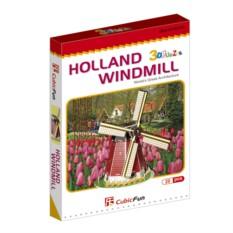 3D пазлы Cubic Fun Голландская мельница (мини серия)