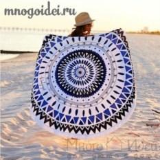 Пляжное полотенце с бахромой Геометрическая мандала
