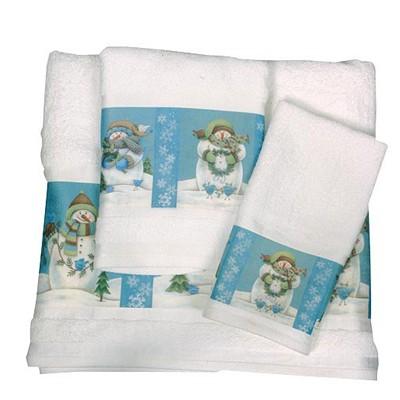 Полотенце банное Blue Snowmen
