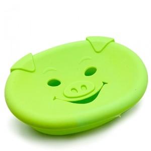 Мыльница Piggy green