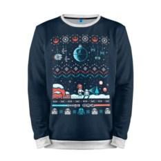 Мужской свитшот 3D Новогодний свитер. Корабли