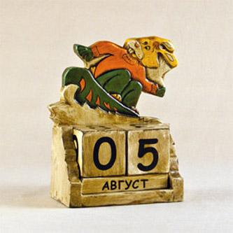 Календарь «Кролик на сноуборде»