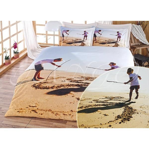 Евро комплект постельного белья, солнечный пляж