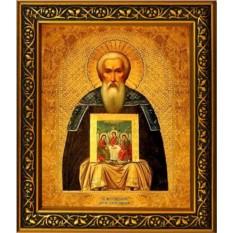 Икона на холсте Макарий Калязинский преподобный игумен