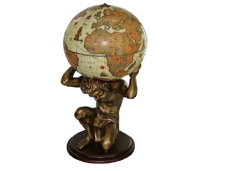 Напольный глобус-бар Титан