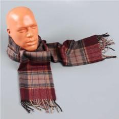 Мужской шарф с бордовым оттенком в клетку Halstech