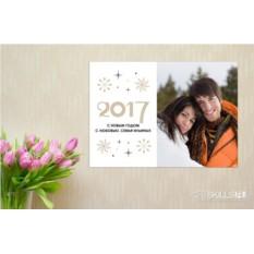 Постер на стену Новогодние снежинки