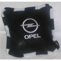 Черная со шнурком подушка Opel