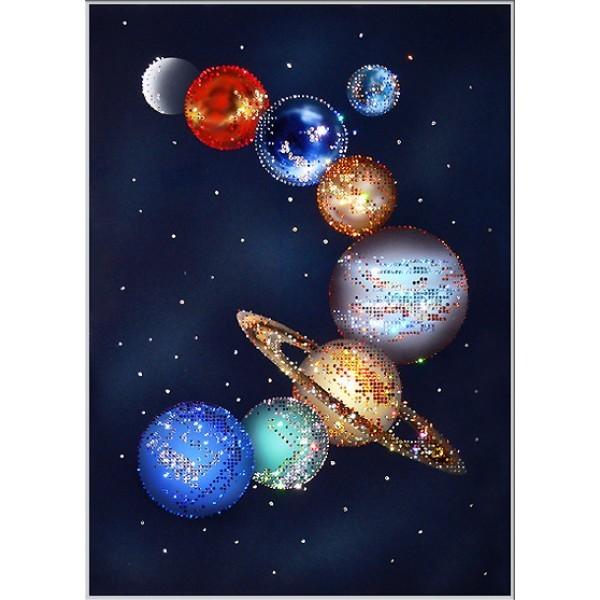 Картина с кристаллами Swarovski Парад планет