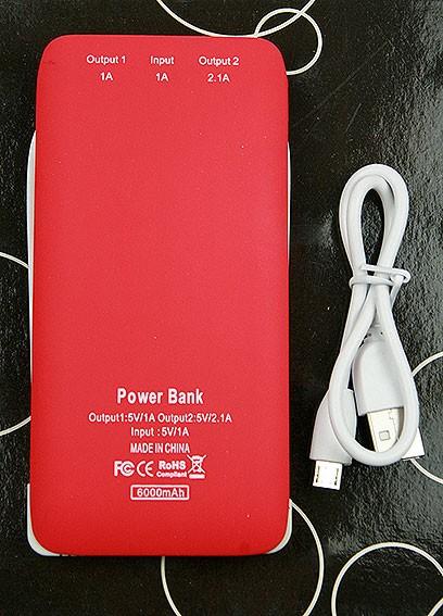 Красное портативное зарядное устройство