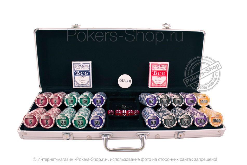 Набор для покера NUTS на 500 фишек Premium