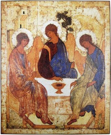 Икона Святая Троица (Андрей Рублев)