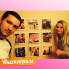 9 мини-холстов с изображением по фото
