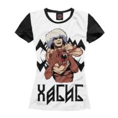 Женская футболка Print Bar Хабиб и медведь