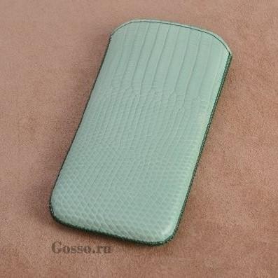 Кожаный чехол для iPhone 5/5S Кувшинки в заброшенном пруду
