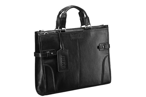 Деловая черная сумка Brialdi Bristol