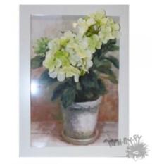 Картина в стиле фэшн-гербарий Гортензия