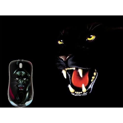 Мышь расписная «Пантера» + коврик