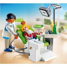 Конструктор Playmobil Детская клиника: Дантист с пациентом